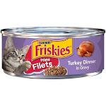 Friskies Prime Filets Turkey Dinner In Gravy Canned Cat Food