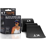 KT Tape Kinesiology Therapeutic Elastic Athletic Tape PreCut Strips Black 20 Strip(s)