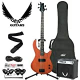 Dean Guitars E09-MSN 4-String Electric Bass with Cable, Strap, Pick Sampler, 10-Watt Amp and Bass Bag