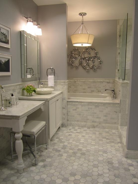 29 gray and white bathroom tile ideas and pictures