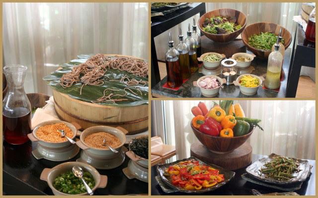 Soba and salads