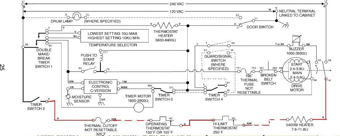 Wiring Diagram  34 Kenmore 90 Series Dryer Parts Diagram