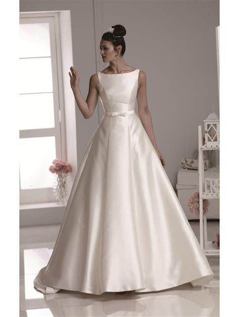 Phoenix Gowns Mikado Slash Neck Gown Ivory B687
