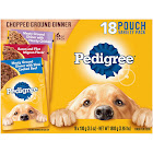 Pedigree Food for Dogs, Chopped Ground Dinner, 18 Pouch Variety Pack - 18 pack, 3.5 oz pouches
