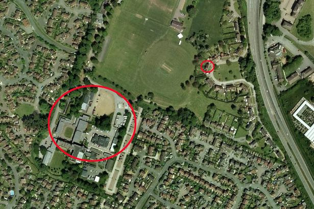 The proximity of Northamptonshire Police HQ (L) to 11 Wood Hall Park (R)