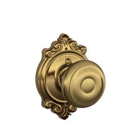 Shop Schlage Georgian Antique Brass Residential Dummy Door Knob at ...
