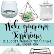 Build your own Terrarium with these 12 Budget Friendly Terrariums! | A Shade Of Teal