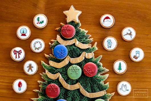 Every Little Detail with Aproned Artist: Advent Calendar-Style Cookie Platter | Cookie Connection