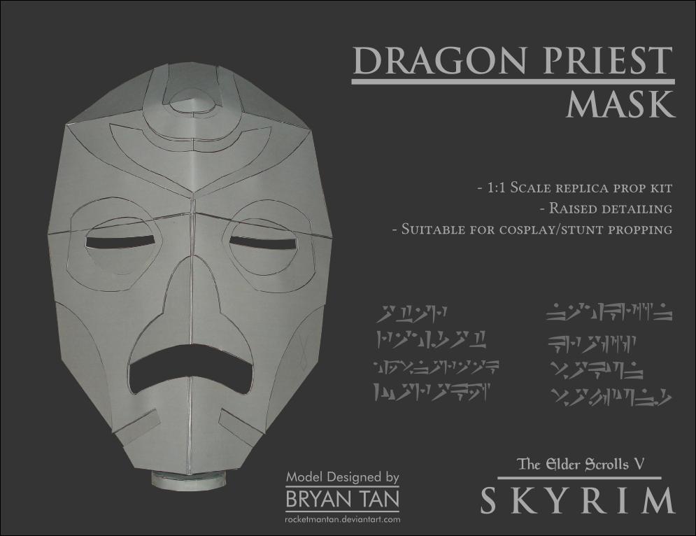 Skyrim Dragon Priest Mask Paper Model
