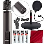AKG Pro Audio C1000s Small-Diaphragm Condenser Microphone with Mic Stand & Accessory Bundle by PhotoSavings.com