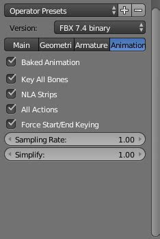 export - Importing Rigged Character and animations to