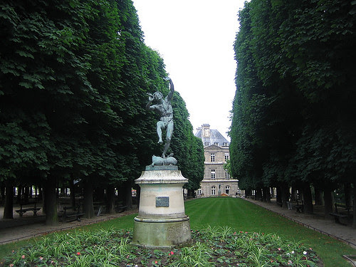 IMG_8015 - Faun dancing on a wineskin, bronze by Eugène-Louis Lequesne (1851) - Jardin du Luxembourg, Paris