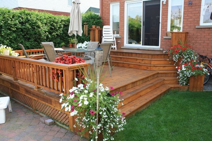 Ideas for small backyard decks