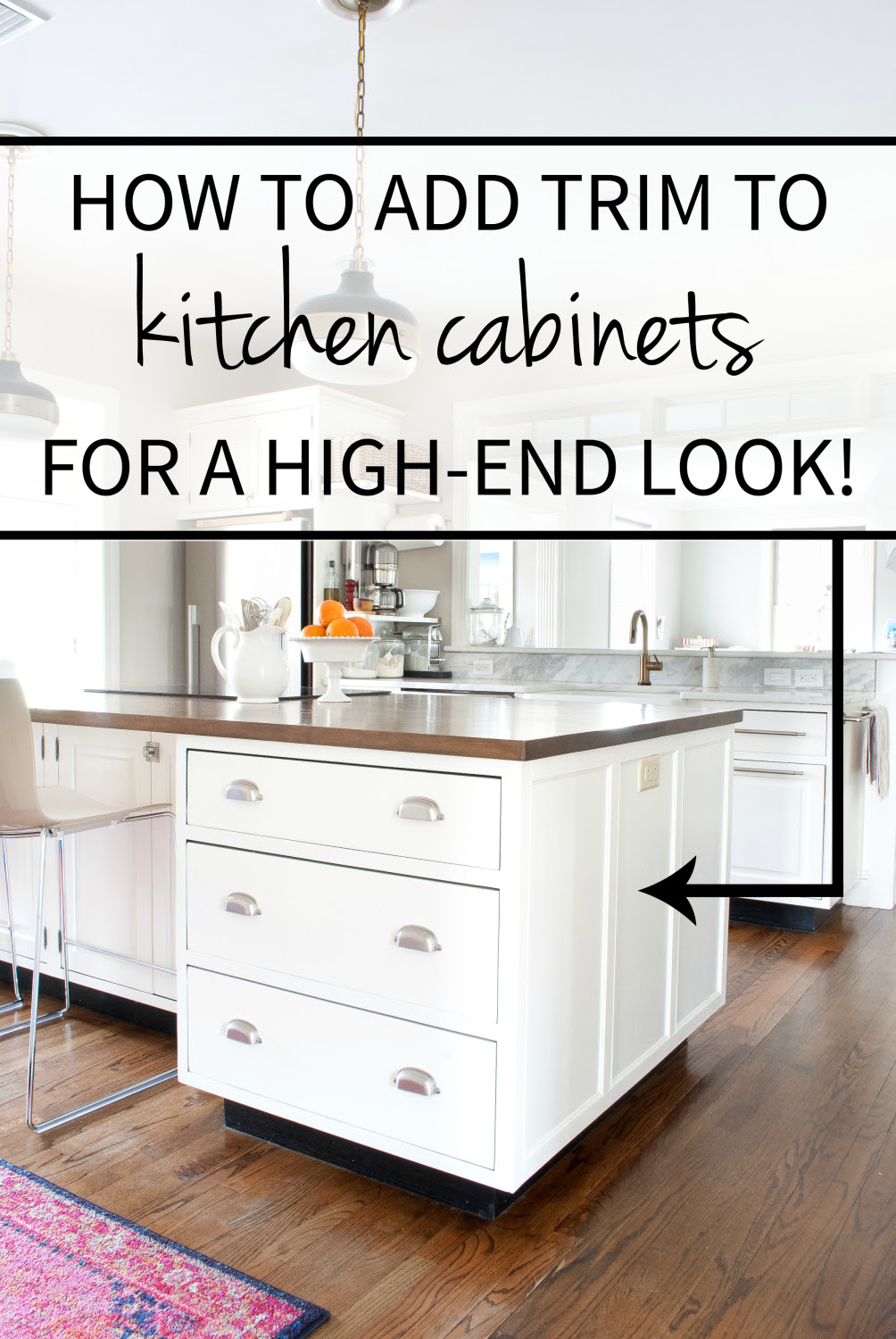 How to Add Detail to a Plain Kitchen Island - The ...