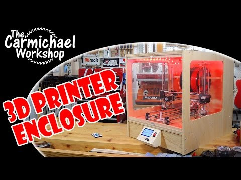 Make a 3D Printer Enclosure for a Prusa i3 RepRap 3D Printer!
