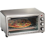 Hamilton Beach - 6-Slice Toaster Oven - Stainless steel
