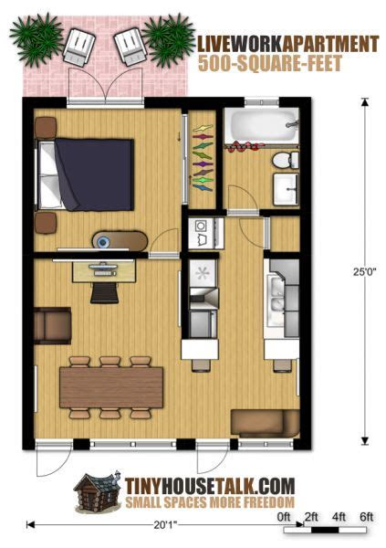 small apartment design  livework  floor plan