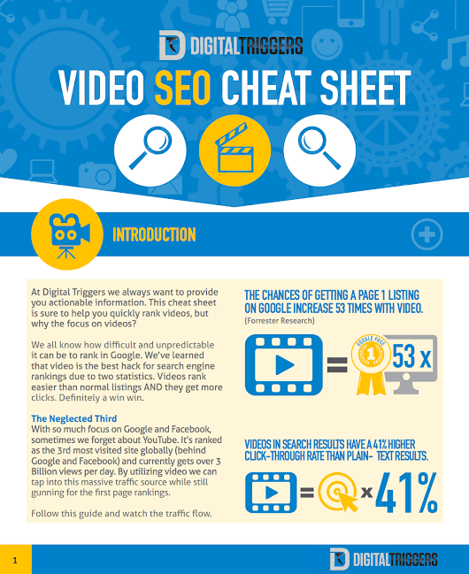 100% Free Cheat Sheet Reveals Video SEO Ranking System (Dominate In Hours)