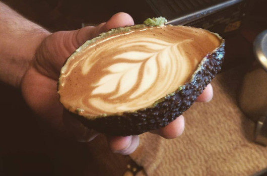 Hipsters are now drinking lattes out of avocados