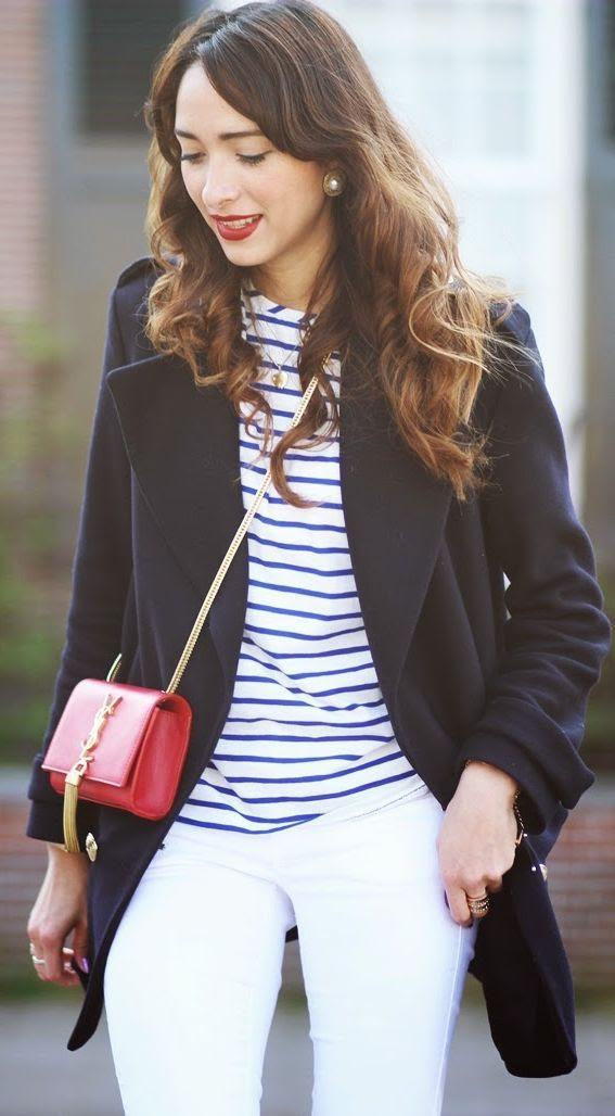 Petit Bateau Short Sleeve Blue Stripe Tee by Preppy Fashionist