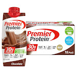 Premier 30g Protein Hormone Free Shakes 11 oz., 18-pack, Chocolate
