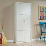 Sauder Select Storage Cabinet in White - 419636