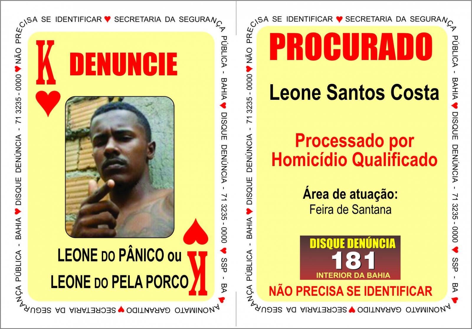 Acusado de vários homicídios em Feira de Santana é incluído no Baralho do Crime
