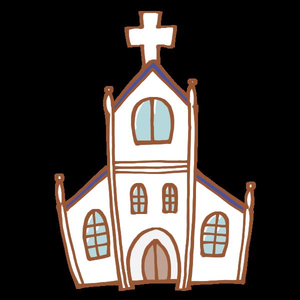 教会のイラスト かわいいフリー素材が無料のイラストレイン