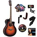 Yamaha APX500II Acoustic Electric Old Violin Sunburst Guitar BUNDLE w/Legacy Kit(Tuner,DVD andMuchMore)