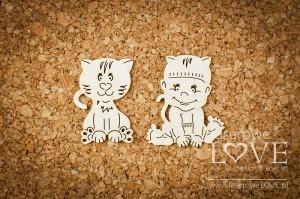 Tekturka - Chłopczyk z kotkiem - Emma & Billy