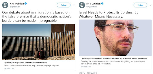 "NYT: ""Israel Needs to Protect Its Borders. By Whatever Means Necessary."""