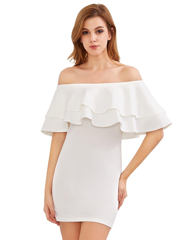 Bodycon amazon dress sleeve long white