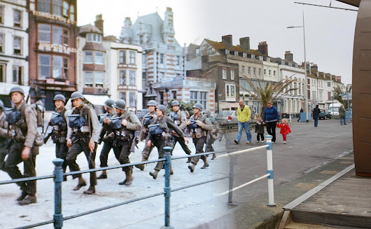 Scenes From D-Day, Then and Now