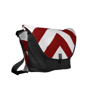 Red and White Chevrons rickshawmessengerbag