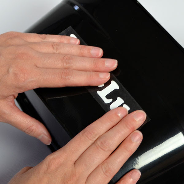 How to install and apply vinyl lettering and vinyl decals - Step 7