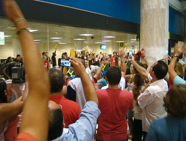Torcedores Flamengo Aeroporto copa juniores