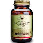 """Solgar B-Complex """"100"""" Vegetable Capsules, 50 Count"""