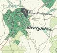 Королево и замок Нялаб на фрагменте австрийской карты, созданной в 1806 – 1869 годах