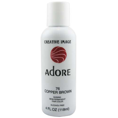 Adore Semi Permanent Hair Color 76 Copper Brown 4oz, AdoreHair \u0026 Skin Products