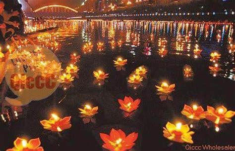 paper chinese floating garden water lanternpond lotus