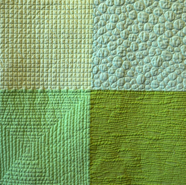 Earth, a colour study in green - detail after washing