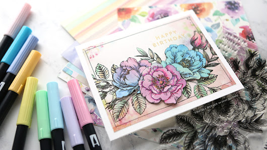 Patterned Paper Stamping – More Monthly Card Kit Inspiration with Kristina Werner! - Simon Says Stamp Blog