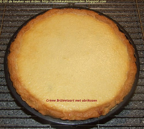 Crème Brûléetaart met abrikozen