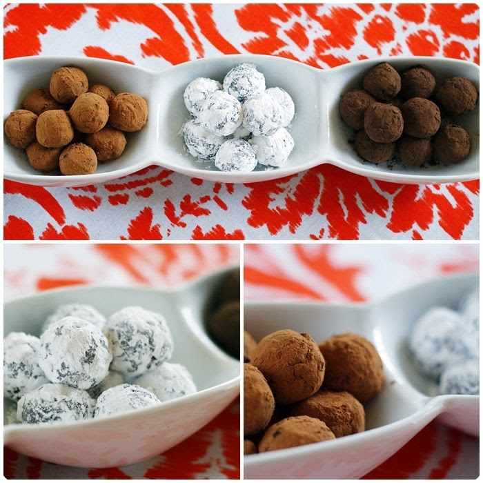 cocoa almond truffles ::: bake at 350 blog