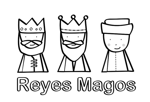 Dibujo Reyes Magos Colorear