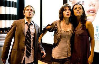 Rob, Marlena and Lily stare up at the unseen monster wreaking havoc on New York City.