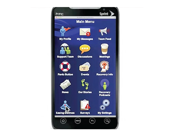 Image of smartphone with A-CHESS app main menu
