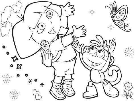 mewarnai gambar dora  explorer bonikids coloring