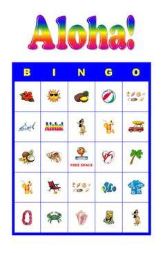Luau party, Bingo and Bingo cards on Pinterest