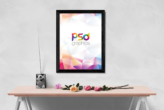 Wall Photo Frame Mockup PSD | PSD Graphics